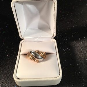 Vintage 10k Chunky Wave Ring